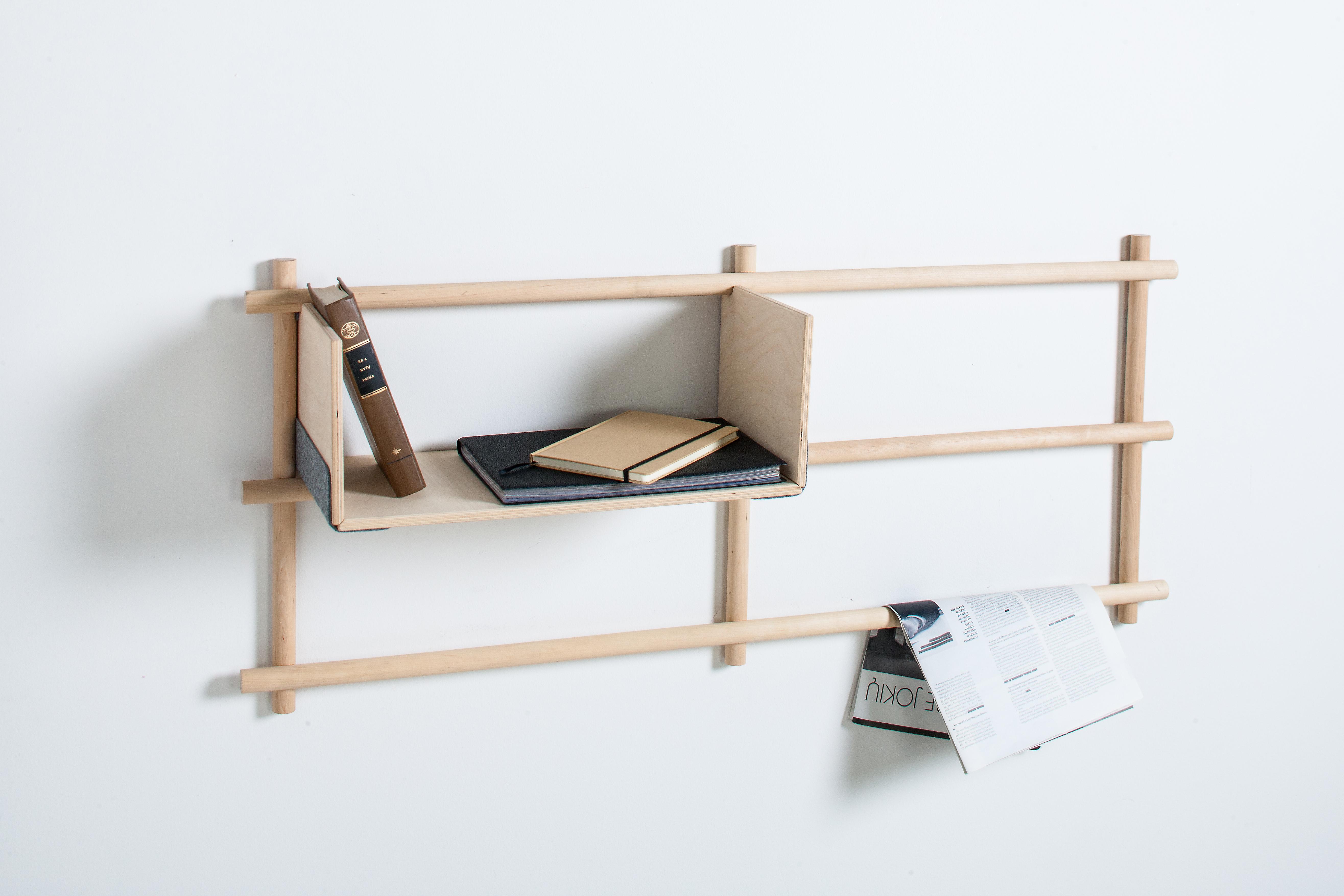 Designer Wandregal Foldin Aus Holz Von Emko
