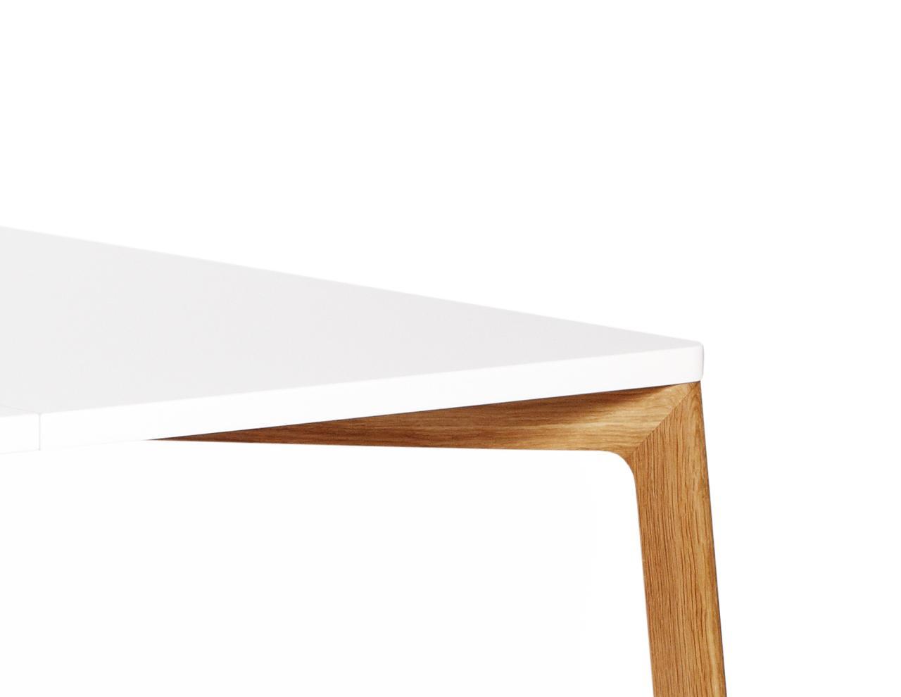 Esstisch in wei und holz 120 cm for Designer esstisch holz