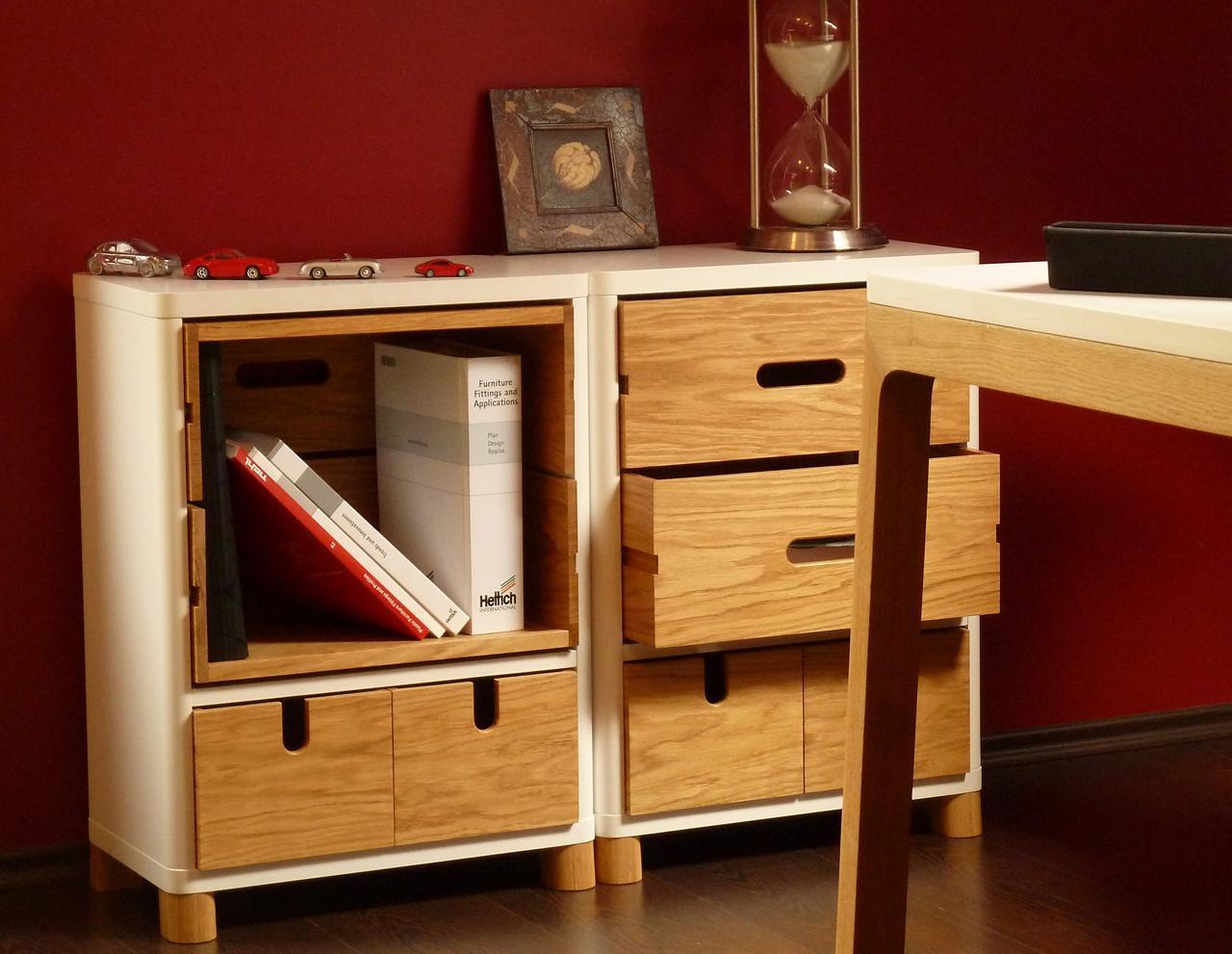 design kommode in wei und holz cow. Black Bedroom Furniture Sets. Home Design Ideas
