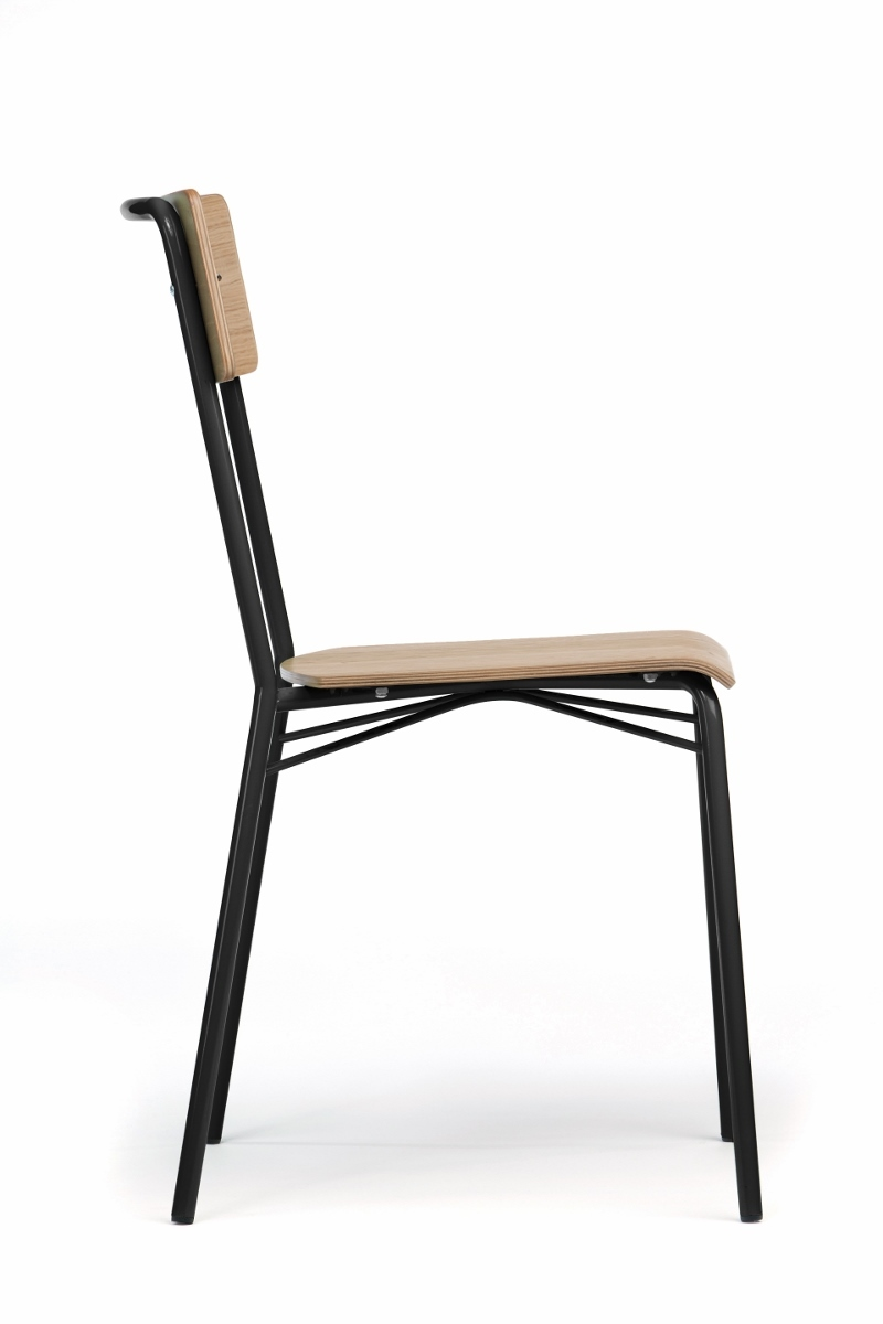 esszimmerstuhl aus holz metall woodman. Black Bedroom Furniture Sets. Home Design Ideas