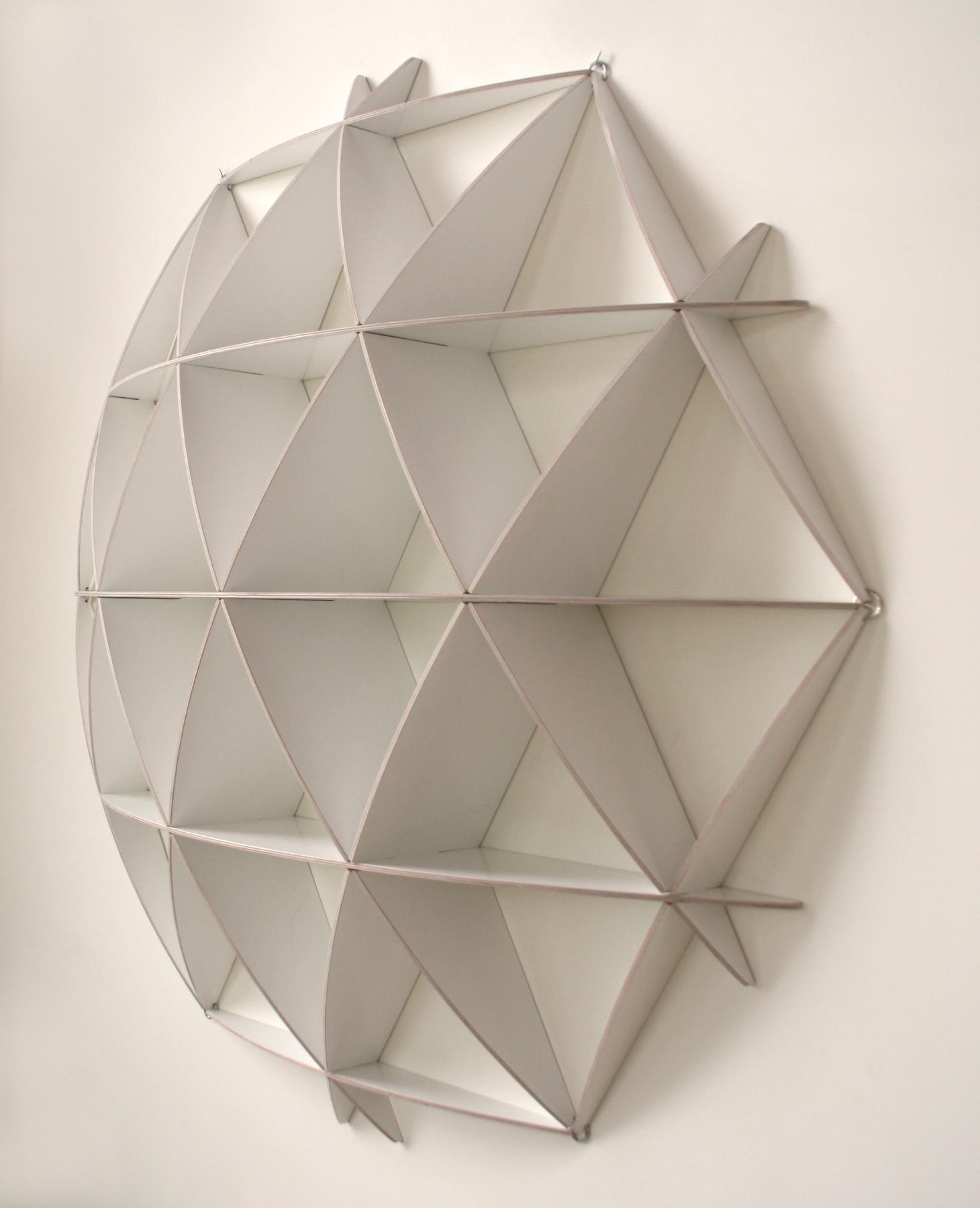 wandregal comb rund wei nordisches design. Black Bedroom Furniture Sets. Home Design Ideas