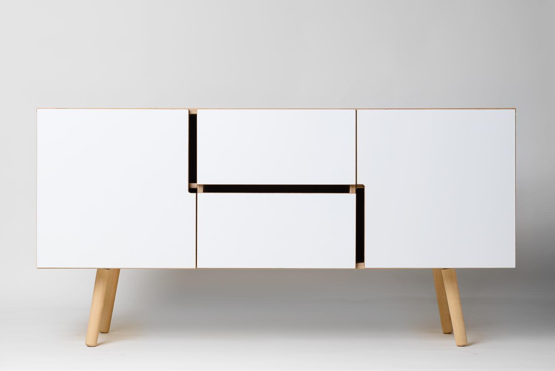 Skandinavisches Sideboard sideboard aus holz mit schubladen jetzt kaufen