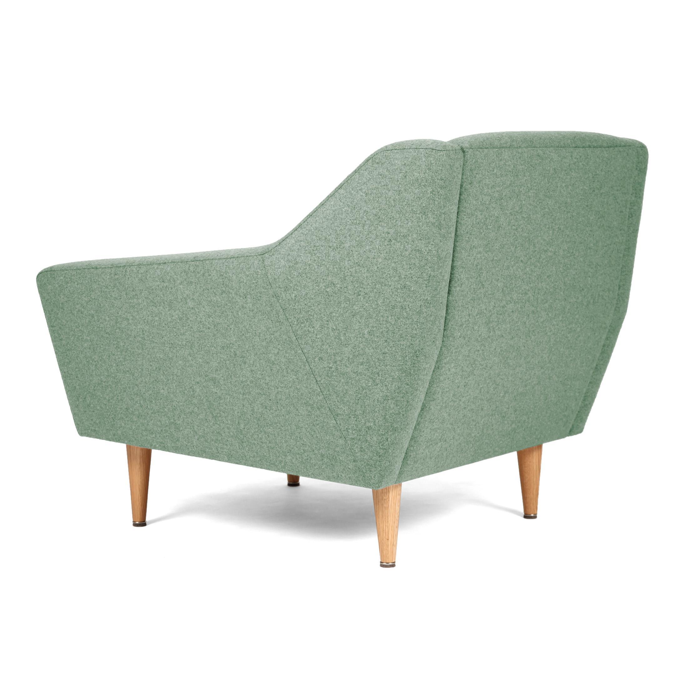 lounge sessel cosmo im retro look gr n. Black Bedroom Furniture Sets. Home Design Ideas