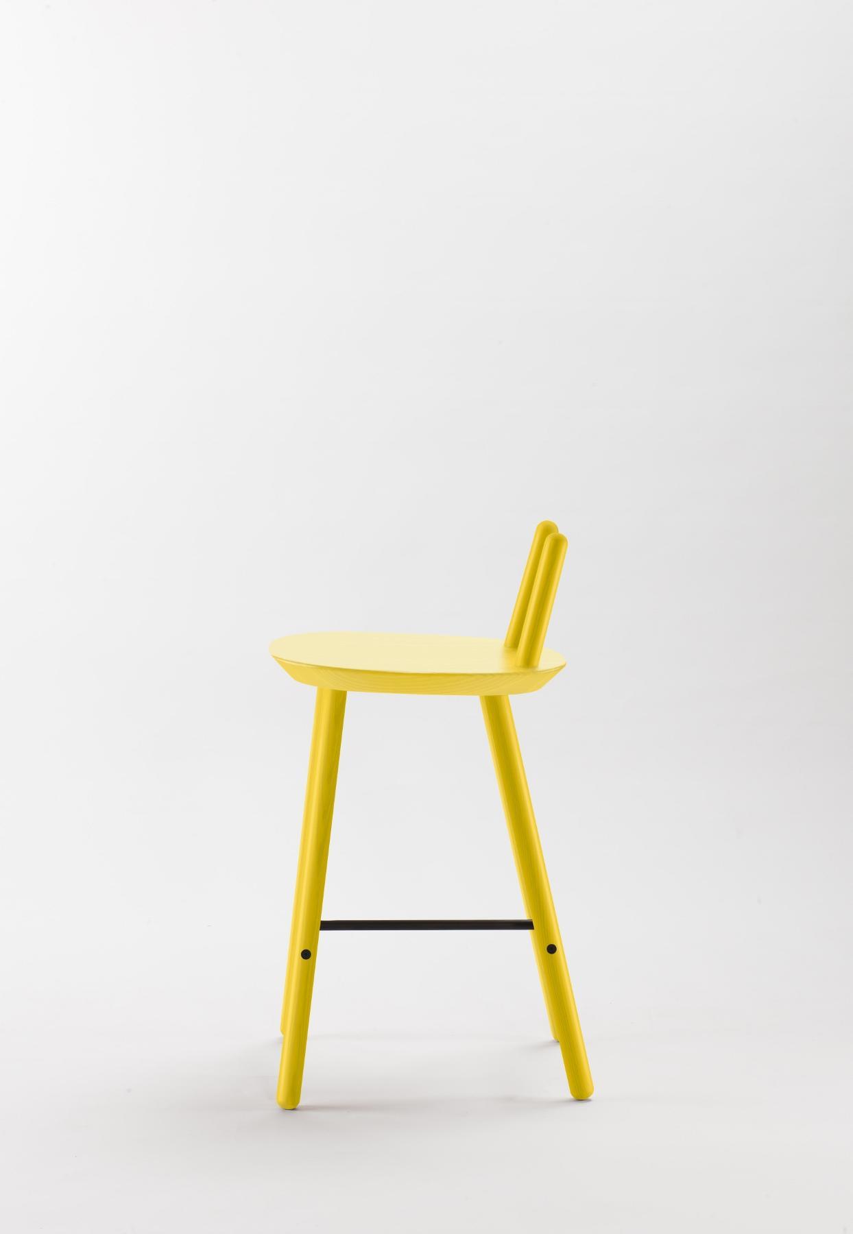 Barhocker na ve mit r ckenlehne gelb for Barhocker farbig