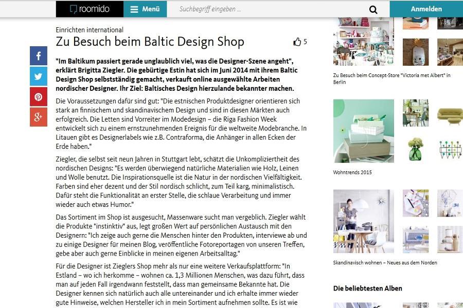 Baltic Design Shop bei roomido