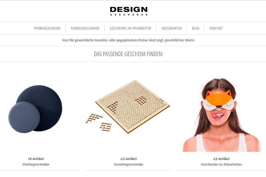 Neuer Shop für Firmengeschenke - jetzt online!